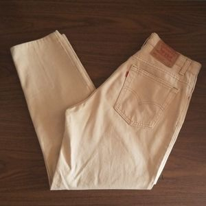 VTG Levi's 551 Relaxed Fit Tan Mom Jeans